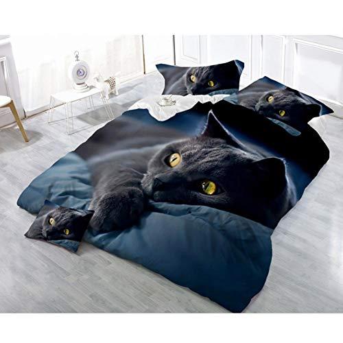 ier-teiliges Set) 3D Baumwolle weiß gedruckt Rose Dog Wolf und Leopard Luxus-Bettwäsche-Set - Home & Living Home Decor ()