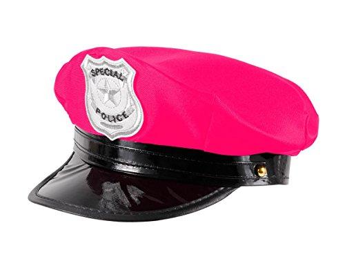 Polizei Mütze pink Damen für Erwachsene Karneval Police Frauen Polizeihut Fasching 189 von Alsino