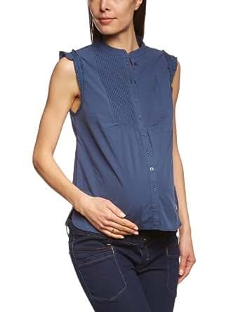 ESPRIT Maternity Damen Umstandsmode Bluse, C84303, Gr. 34 (34), Blau (402 Dark Navy)