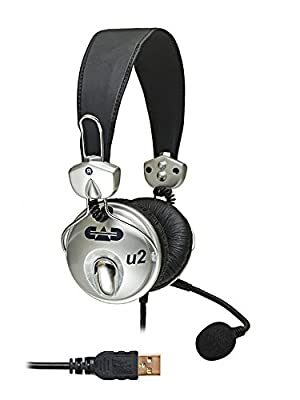 CAD Audio U2 USB Stereo Headphone with Cardioid Condenser Microphone