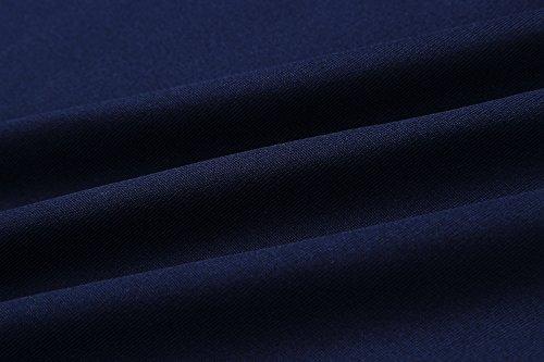 yieune Jumper da donna tunica a maniche lunghe Pullover a maniche lunghe Felpa Camicetta Tops B-Blau