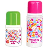 Premium PP Feeding Bottle With Premium LSR Nipple And SPOUT- Combo Of GREEN-125ML+PINK-250ML