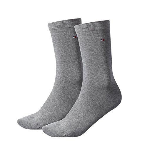 Tommy Hilfiger Damen Socken Casual 8er Pack, Größe:35-38;Farbe:middle grey melange