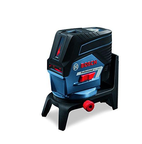 Bosch Professional 0601066G02 GCL 2-50 C Kombilaser, Drehhalterung RM 2, Baustativ BT 150, Schutztasche, 12 V, Schwarz, Blau