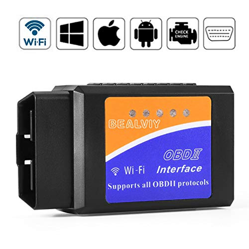OBD2 Wifi, Bealviy OBD2 Adapter ios, OBD2 Scanner Wifi USB, Code Reader, Diagnosegerät mit CAN Bus, Unterstützt Alle OBD2-Protokoll, ELM327 Wifi, Funktioniert auf ios, Android, Symbian, Windows (Obd-scanner-wlan)