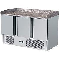 ZORRO - Pizzatisch ZS 903 PZ - 3 Türen - Kühltisch mit Granitplatte und Aufkantung - Salatkühlung - Gastro Belegstation