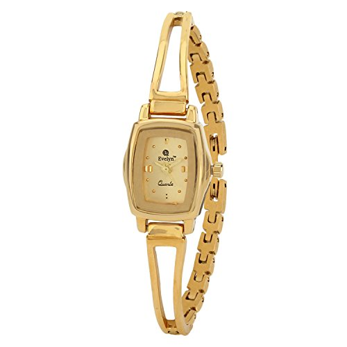 Evelyn Stainless Steel Gold Plated Wrist Watch for Women - GL-020
