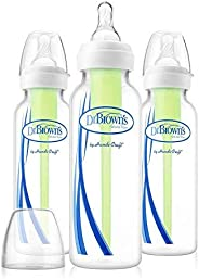 Dr. Brown's Options Narrow, 3 Pack, clear, 8 ounce, SB8300