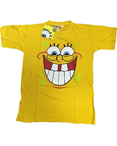 T-Shirt Herren Spongebob Smile Shirt Erwachsene Cartoon * 11764, gelb S