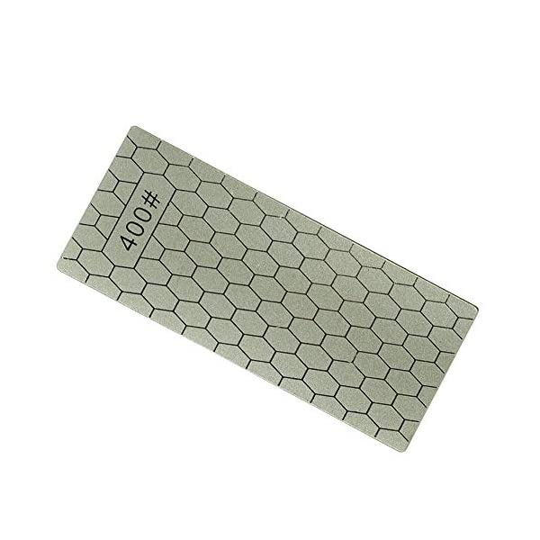 RoadRoma Afilador de Diamantes Cuchillo de Piedra Diamante Placa Piedra afiladora Afilador de Cuchillos Amoladora (Gris) 2