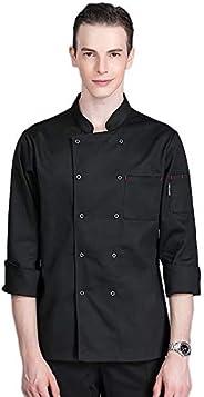 Unisex Men's Chef Jacket Hotel Kitchen Long Sleeve Double Breasted Chef Coat Uniform Workwear CFM