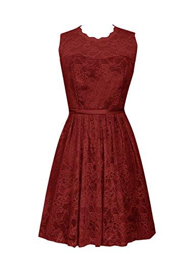 Dresstells Mädchen Abschlussballkleid Homecoming Kleider Cocktail Dress Burgundy