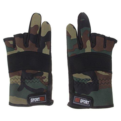 Wasserdicht Außen Rutschfeste 2-Finger Angelhandschuhe Handschuhe für Angeln Fischen Fahrrad Radsport
