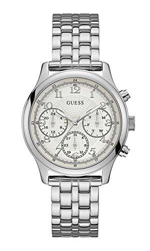 Guess orologio multi-quadrante quarzo donna con cinturino in acciaio inox w1018l1