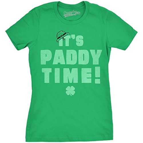 womens-its-paddy-time-funny-saint-patricks-day-lucky-irish-t-shirt-green-xxl