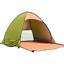 Aofit fully-auto - Tenda pop up pieghevole, tenda parasole da spiaggia, campeggio, Army Green, 01-For 2-3 persons