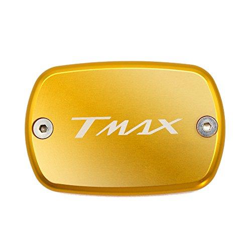 Tmax 530 XP 530 Tmax 500 Tappo Serbatoio Liquido Pompa Freno Anteriore Front Brake Fluid Reservoir Cap per Yamaha T-max 530 XP 530 2012 2013 2014 2015 2016 T-max 500 2008 2009 2010 2011 (Oro)