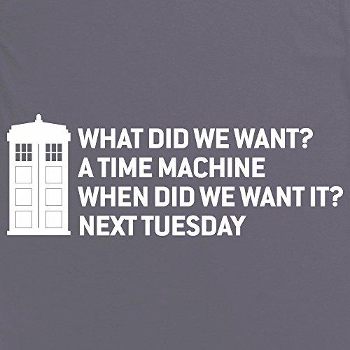 Time Machine T-Shirt, Damen Anthrazit