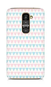 Amez designer printed 3d premium high quality back case cover forLG G2 (colourful triangles )