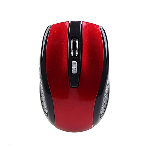 abellos Mini Bluetooth 3.06d 1600dpi optische Gaming Maus Mäuse rot ()