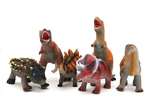 Globo Toys Globo 37151 - Colección de Juguete de Dinosaurios Suaves, 40 cm, 6 Colores Surtidos