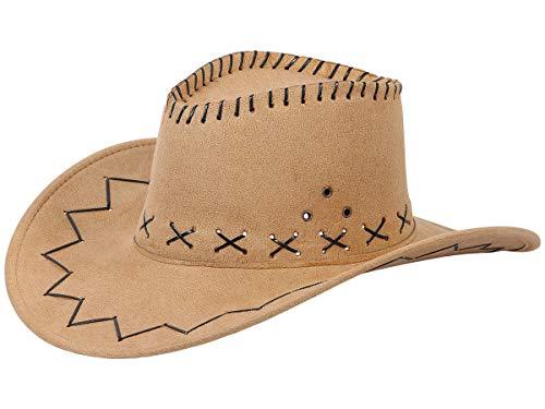 Alsino Cowboyhut Westernhut in One Size Größe aus Polyester, Hellbraun - Clint Eastwood Cowboy Kostüm