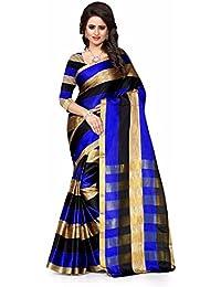 Rangrasiya Cotton Silk Saree With Blouse Piece (Cs2051_Blue_Free Size)