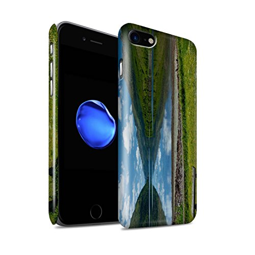 STUFF4 Glanz Snap-On Hülle / Case für Apple iPhone 8 / Pack 14pcs / Schottisch Landschaft Kollektion Loch/Bank