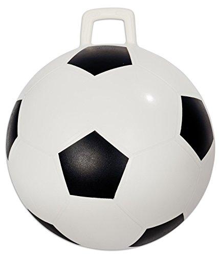 Betzold 36358 - Hüpfball Kinder Fußball-Design Sprungball belastbar bis Max. 80 kg - Spring-Ball Gymnastikball Draußen