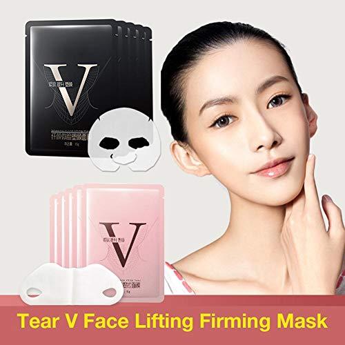TARTIERY 10 Stück V-förmige Dünne Gesicht Hydrotherapie Whitening Ziehen Maske Straffungs- Und Feuchtigkeitsmaske Schlankheitsmaske Face Care Slimming Mask - Maske Kostüm Atemschutzmaske