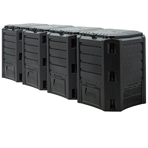 Preisvergleich Produktbild Komposter 1600L 261 x 72 x 83cm witterungsbeständig Deckel klappbar / Gartenkomposter Thermokomposter Schnellkomposter
