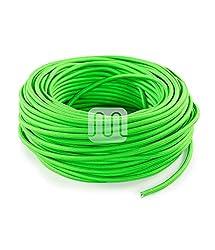 Textilkabel für Lampe neon grün 10 Meter 3 adrig Stoffkabel (3x0,75mm²) - FL13