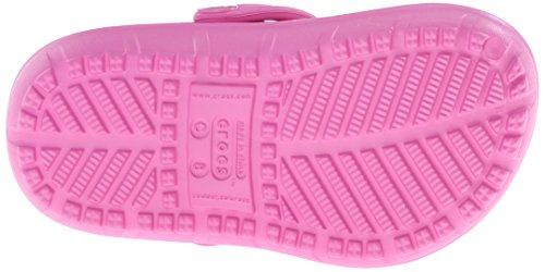 Crocs Hilo Lined Clog Kids, Zoccoli e sabot, Unisex - bambino Rosa (Party Pink/Turquoise)