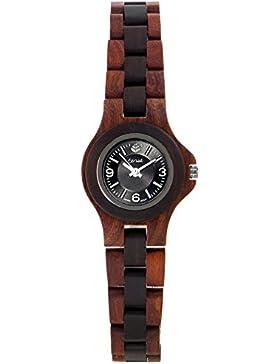 TENSE // Die Holzuhr - Womens Northwest Rosenholz/Sandelholz - braun/schwarz - Damen-Uhr - Holz-Uhr L4300RD-BSIL