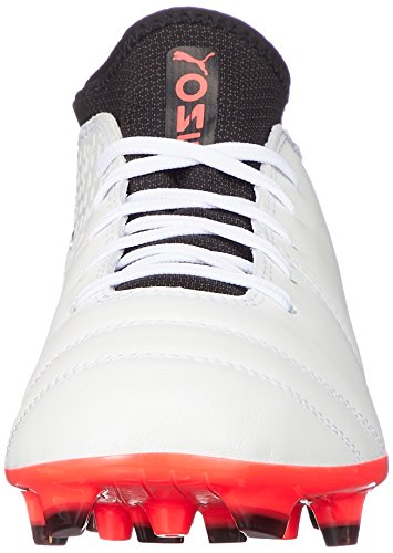 Puma Men s ONE 17 2 AG Football Boots   White-Black-Fiery Coral 01   9 UK 9 UK