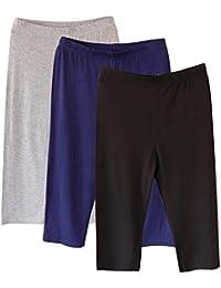 laamei Lot DE 3 Femme 3 4 Longueur Leggings Modal Pantalon Court Leggings  Doux Extensible 14b5c3d45cb