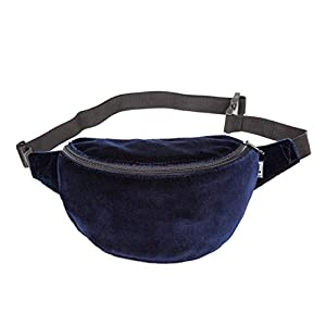 Bauchtasche, samt dunkel blau, Hipbag, Umhängetasche, funny pack, cross bag