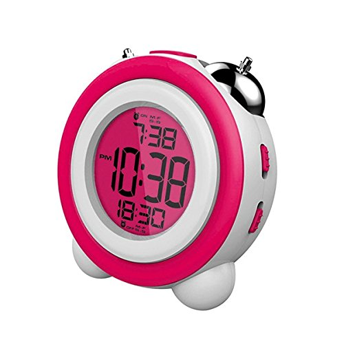Daewoo DCD-220PK - Despertador digital con función Snooze, color rosa