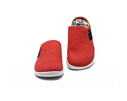 UIN Pantoufle de confort de Microfibre Sidi des femmes Rouge