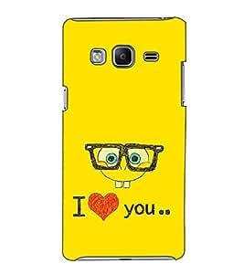 Fuson Designer Back Case Cover for Samsung Galaxy Z3 Tizen :: Samsung Z3 Corporate Edition (I love you theme)