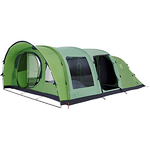 coleman weatherproof valdes unisex outdoor inflatable tent available in green - 6 persons