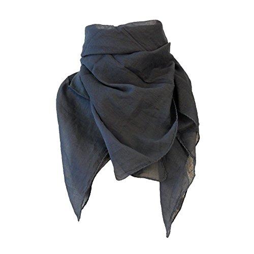 MB-Müller Baumwolltuch Lurextuch Kufiya Shemagh Baumwolltücher Kopftuch Nickituch Bandana Langschal Halstuch mit Palituch 100cm x 100cm schwere indische Qualität ()