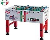 Competition calciobalilla con gettoniera aste uscenti da interno - tavolo ufficiale ficb - roberto sport
