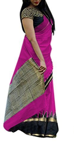 Sarees (Women's Clothing Saree For Women Latest Design Wear Sarees New Collection in RANI Coloured WEIGHTLESS GEORGETTE Material Latest Saree With Designer Blouse Free Size Beautiful Bollywood Saree For Women Party Wear Offer Designer Sarees With Blouse Piece)  available at amazon for Rs.592