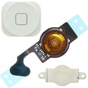BisLinks® Weiße 3 in 1 Set Hauptmenü mittlere interne Taste Flexkabel für iPhone 5 5G