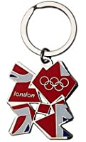 London Olympic Games Memorabilia 2012 Metal Key Ring Union Jack