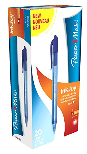 paper-mate-s0957040-inkjoy-100-rt-kugelschreiber-mit-einziehbarer-mittlere-spitze-10-mm-20er-box-bla