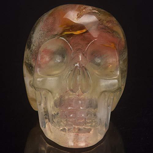 CHINABOS Statue 2 Zoll Wassermelone Turmalin künstlichen Stein Schädel Statue Mineral Crystal Skull Figur Hand Geschnitzte Feng Shui Heilung Sammlung