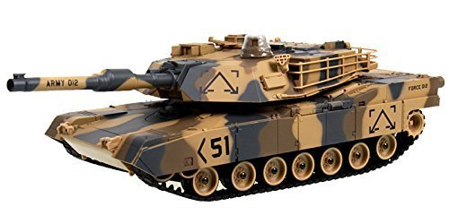 M1A2 Abrams USA Battle Tank RC 16 Airsoft Military Vechile - Desert Camouflage by Unknown (Rc Airsoft Tank)