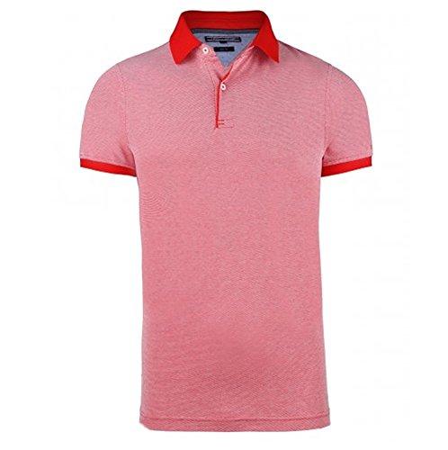 "Tommy Hilfiger Herren Poloshirt ""Multi Color Texture"" Kurzarm Türkis"